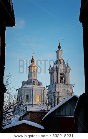 Presentation Of The Blessed Virgin Mary Church. Voronezh, Voronezh Region, Russia In Winter. Frame O