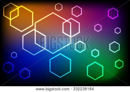 Vector Illustration Glowing Abstract Background, Eps10 Format