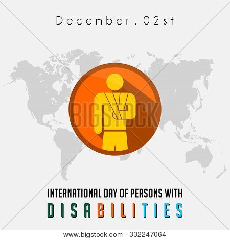 International Day Of Person With Disabilities With The Person Who Disabilities Of Broken Arm