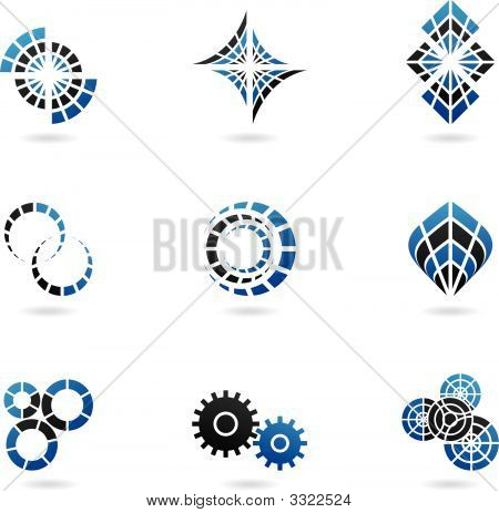 9 Blue Logos