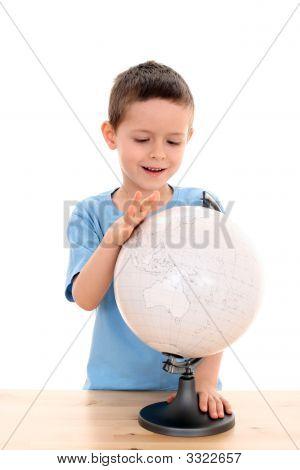 Child And Globe