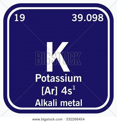 Potassium Periodic Table Of The Elements Vector Illustration Eps 10.