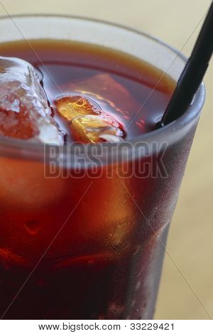 Drinking Straw  In Iced Coffee