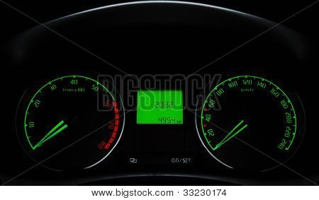 A car's dashboard