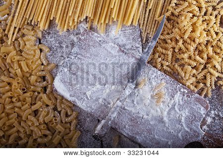 Pasta On A Table