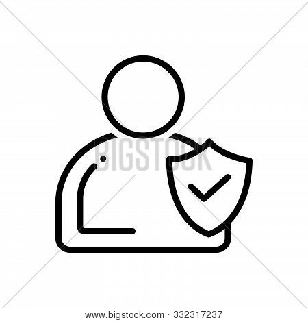Black Line Icon For Integrity  Trust Honesty Ethics