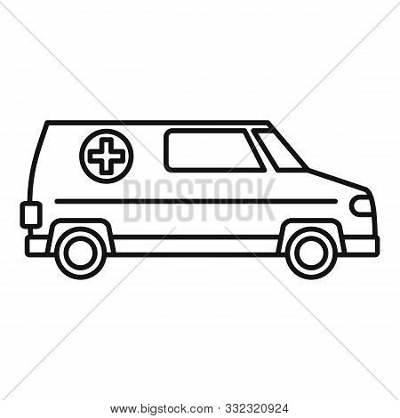 Paramedic Ambulance Icon. Outline Paramedic Ambulance Vector Icon For Web Design Isolated On White B