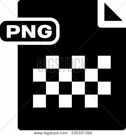 Black Png File Document. Download Png Button Icon Isolated On White Background. Png File Symbol. Vec