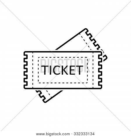 Black Line Icon For Tickets  Talon  Coupon Voucher Token