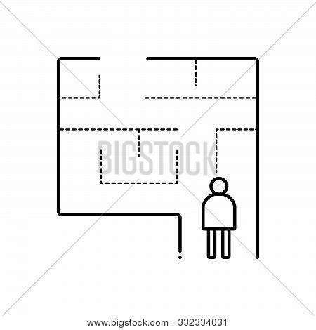 Black Line Icon For Evacuation-plan Evacuation  Exit  Egress  Vent