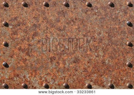 Rusted and Riveted Steel Plate