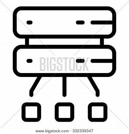 Disconnect From Server Icon. Outline Disconnect From Server Vector Icon For Web Design Isolated On W