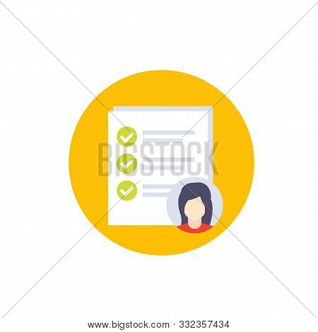 Job Qualifications Icon, Vector, Eps 10 File, Easy To Edit