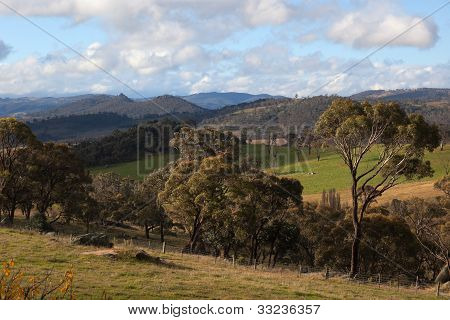 A Rural Landscape Near Oberon. New South Wales. Australia.