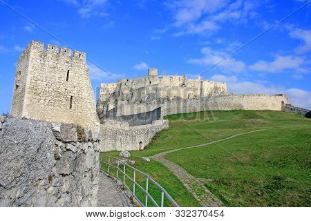 Spis Castle, Spissky Hrad, In Slovakia, One Of The Biggest Castles In Europe. Ancient Castle, Old St