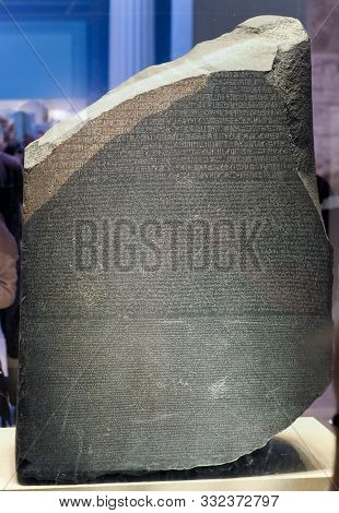 Rosetta Stone At British Museum In London