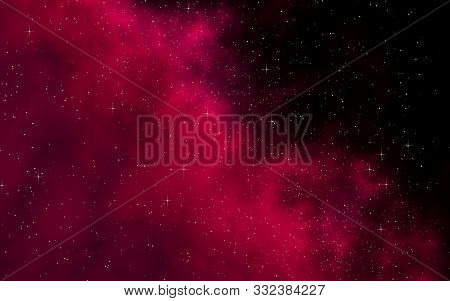 Colorful And Beautiful Space Background. Outer Space. Starry Outer Space Texture. Templates, Red Bac
