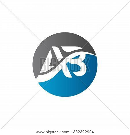 Initial Ab Letter Logo. Simple Ab Logo Vector Template. Abstract Ab Logo. Ab Logo Template. Circle A