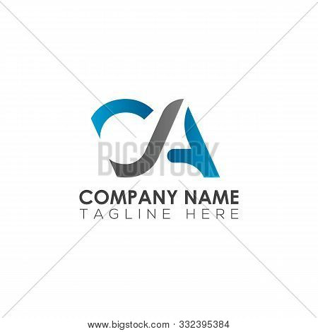 Letter Type Ca Logo Design For Your Business. Simple Letter Ca Logo. Ca Letter Logo Design, Letter C