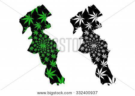 Ardabil Province (provinces Of Iran, Islamic Republic Of Iran, Persia) Map Is Designed Cannabis Leaf