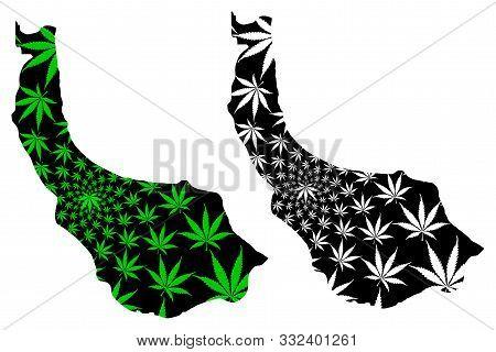 Gilan Province (provinces Of Iran, Islamic Republic Of Iran, Persia) Map Is Designed Cannabis Leaf G