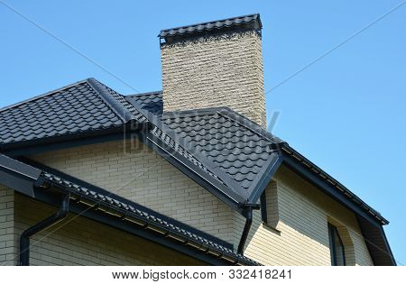 House Rooftop Problem Areas For Rain Gutter Waterproofing Outdoor. Home Guttering, Roofing Construct