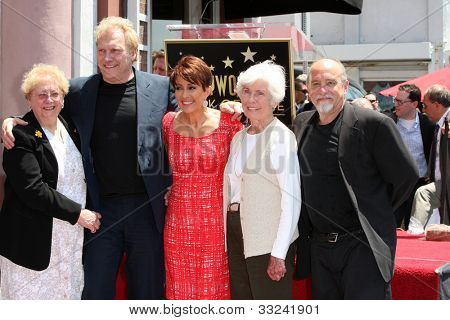 LOS ANGELES - MAY 22:  Patricia Heaton, David Hunt, family at the ceremony honoring Patricia Heaton with a Star on The Hollywood Walk of Fame at Hollywood Boulevard on May 22, 2012 in Los Angeles, CA