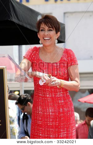 LOS ANGELES - MAY 22:  Patricia Heaton at the ceremony honoring Patricia Heaton with a Star on The Hollywood Walk of Fame at Hollywood Boulevard on May 22, 2012 in Los Angeles, CA