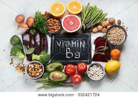 Foods High In Vitamin B9 - Folic Acid.
