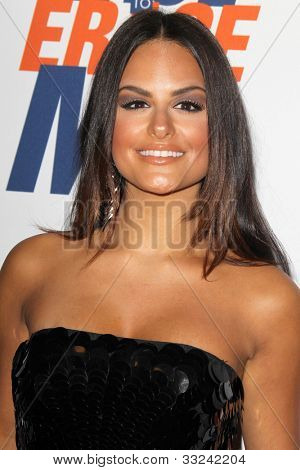 LOS ANGELES - MAY 18:  Pia Toscano arrives at the 19th Annual Race to Erase MS gala at Century Plaza Hotel on May 18, 2012 in Century City, CA