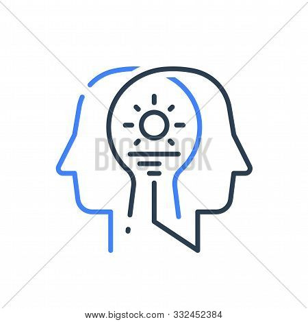 Human Head Profile And Sunrise, Cognitive Psychology Or Psychiatry Concept, Inner Calm Or Harmony, M