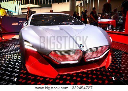 Frankfurt Am Main, Germany - September 17, 2019: Concept Car Bmw Vision M Next At The Frankfurt Moto