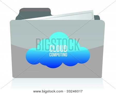 Cloud computing concept illustration design over white