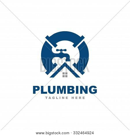 Plumbing Logo Design Vector Template.plumbing Service Illustration Symbol
