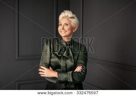 Fashion Portrait Of Elegant Adult Woman.