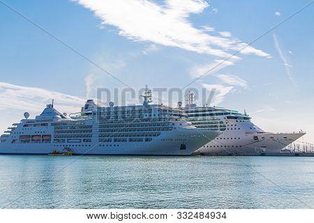 Ravenna, Italy - September 30, 2017: Silversea Cruises Is A Ultra-luxury Cruise Line Headquartered I