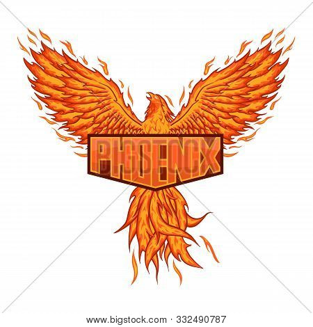 Myth Of Phoenix For E-sport Logo, Mascot And Print T-shirt Illustration