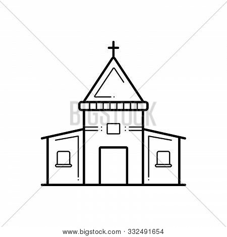 Black Line Icon For Holy Place Stead Collocation Religion Worship Sacred