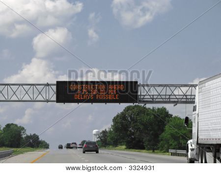 Highway Construction Sign