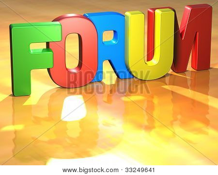 Word Forum On Yellow Background