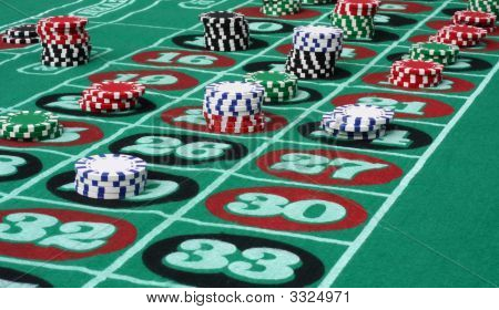 Roulette Table Angle.