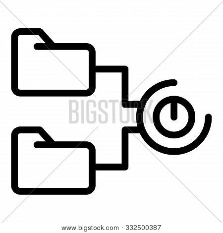 Temporary Folders Icon. Outline Temporary Folders Vector Icon For Web Design Isolated On White Backg