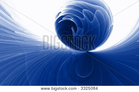 Colorful 3D fractal design ( fantasy abstract background ) poster
