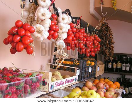 Fresh produce at Italian market