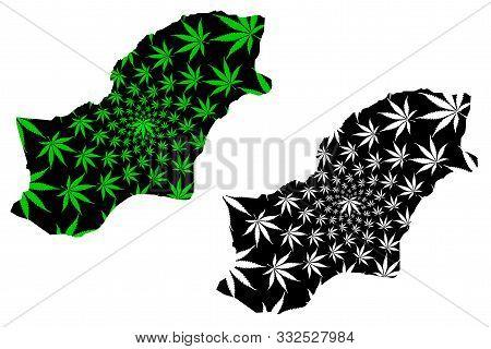 Golestan Province (provinces Of Iran, Islamic Republic Of Iran, Persia) Map Is Designed Cannabis Lea