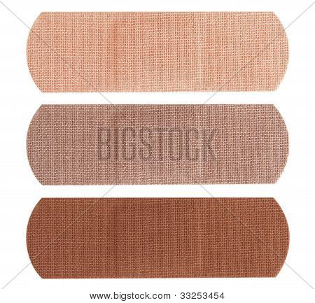 Bandages In Different Skin Colors