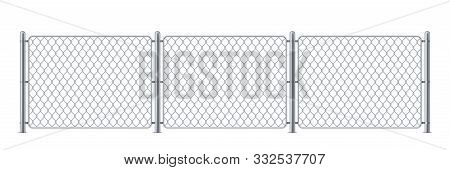 Security Metal Fence Or Police Steel Chain Link Barrier, Wire Construction For Enclosure For Mma Or