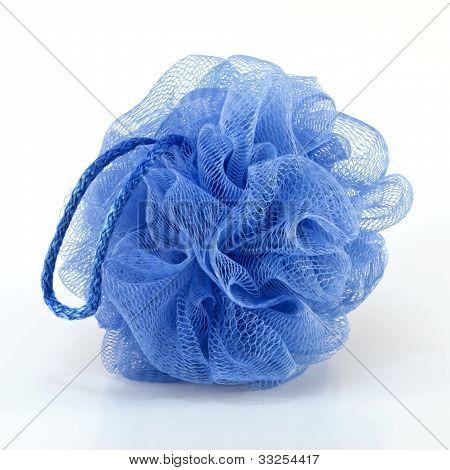 Blue Bath Puff