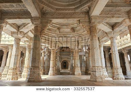 Ranakpur Jain Temple Or Chaturmukha, Dharana, Vihara, Is A Jain Temple At Ranakpur