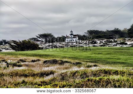 Point Pinos Lighthouse Asilomar California, Oldest Continually In Use Lighthouse On West Coast Of Un